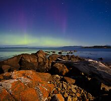 Ninepin Point Aurora, Tasmania #2 by Chris Cobern