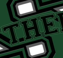 Slytherin Letterman Style Sticker