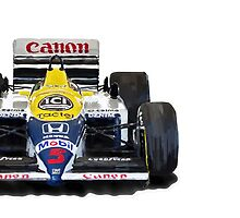 Williams F1 FW11 - 1987 iPhone case by Lynchie
