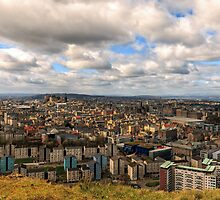 City of Edinburgh from Salisbury Crags, Scotland by Miles Gray