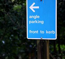 Angle Parking Sign by jimrac