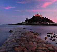 St Michaels Mount sunset by Rachel Slater