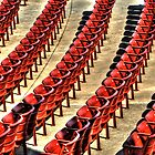 Red Stadium Seats by Roger Passman