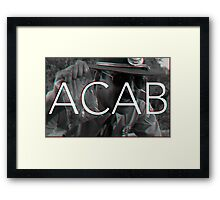 ACAB - Don't touch my weed ! Framed Print