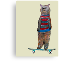 the cat skate  Canvas Print