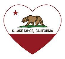 South Lake Tahoe California Love Heart  by NorCal