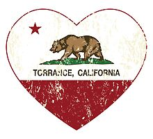 Torrance California Love Heart Distressed by NorCal