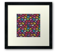 Funny colored skulls Framed Print