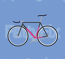 Fattyfix - fixie poster by JeppeRIngsted by JeppeRingsted