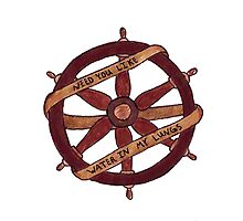 Brand New Ship Wheel Design Photographic Print