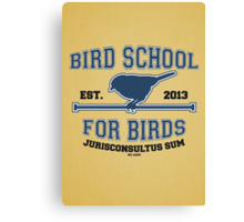 Bird School for Birds Canvas Print