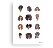 How To Be Curly Metal Print