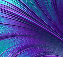 Abstract in Blue and Purple by John Edwards