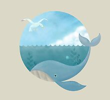 Whale and Seagull by erdavid