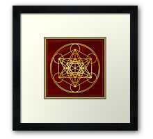 Metatrons Cube, Flower of life, Sacred Geometry Framed Print