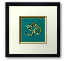Sacred OM - I AM - Symbol of spiritual strength  Framed Print