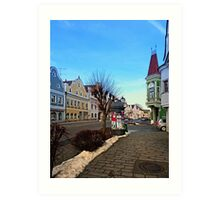 Pictoresque traditional village center | architectural photography Art Print