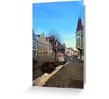 Pictoresque traditional village center | architectural photography Greeting Card
