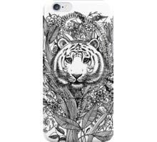 Tiger Tangle in Black and White iPhone Case/Skin