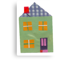 Home Sweet Home Little Green House Canvas Print