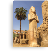 Pharaoh Statue, Karnak Temple, Luxor Canvas Print