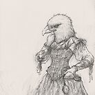 Steampunk Lady Eagle by betsystreeter
