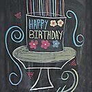 Chalkboard Happy Birthday! by Pixie-Atelier