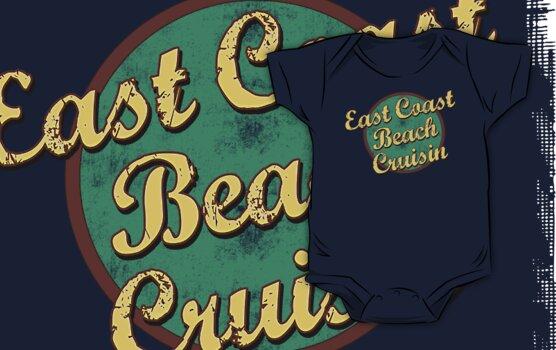 Bike Cycling East Coast Beach Cruising by SportsT-Shirts
