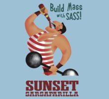 Sunset Sarsaparilla T-Shirt by Axwel