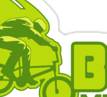 BMX Man Up Bike Cycling Bicycle  Sticker