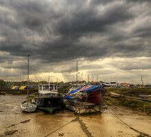 Tollesbury Boats by Nigel Bangert