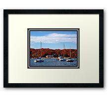 The Harbor in Fall Framed Print