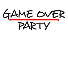 Game Over Party Comic Style by Style-O-Mat