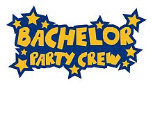 Bachelor Party Crew Stars Logo by Style-O-Mat