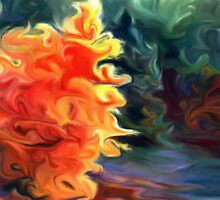 Burning Bush Fallfire Art Winner 2013! by artofdoodles