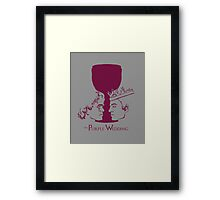 Purple Wedding Framed Print