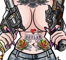 Girl with Guns Sticker