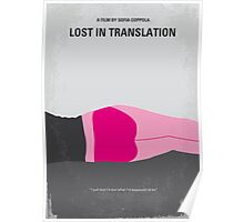 No287 My Lost in Translation minimal movie poste Poster