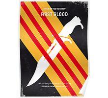 No288 My Rambo First Blood minimal movie poster Poster