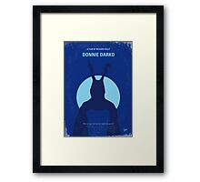 No295 My Donnie Darko minimal movie poster Framed Print