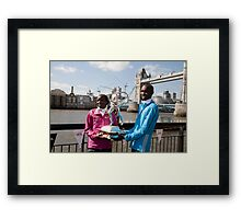 The Elite winners of the London Marathon 2014 Edna Kiplagat and Wilson Kipsang both from Kenya Framed Print