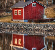 Little red house by macsphotography