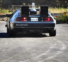 Back to the Future Delorean by damhotpepper