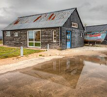 Boat House Reflection by Joshua McDonough Photography