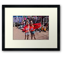 Kipsang & Biwott after winning the London Marathon Framed Print