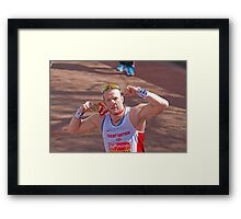 Richard Whitehead with his London Marathon medal Framed Print