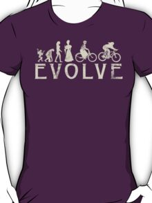 Bike Vintage Women's Evolution of Cycling T-Shirt