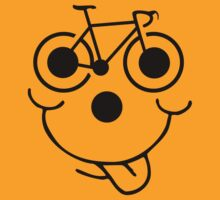 Funny Bike Cycling Face by SportsT-Shirts