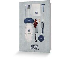 Bates Motel Art Poster Greeting Card