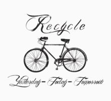 Recycle Bike Cycling Bicycle Men's Kids Clothes